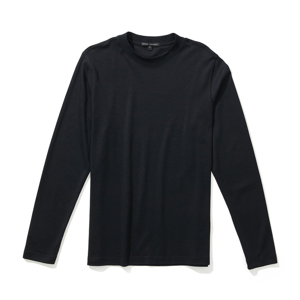 BARAKETT HIGH NECK CREW (BLACK) - ROBERT BARAKETT