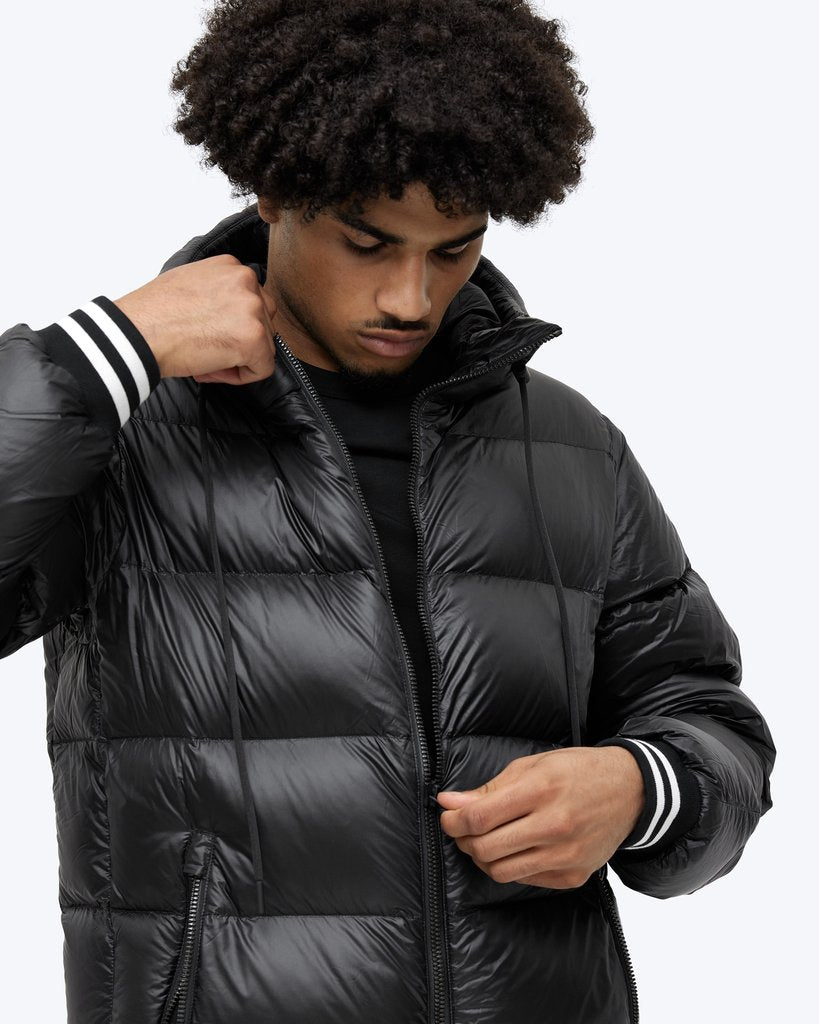 GOOSE DOWN HOODED JACKET - REIGNING CHAMP