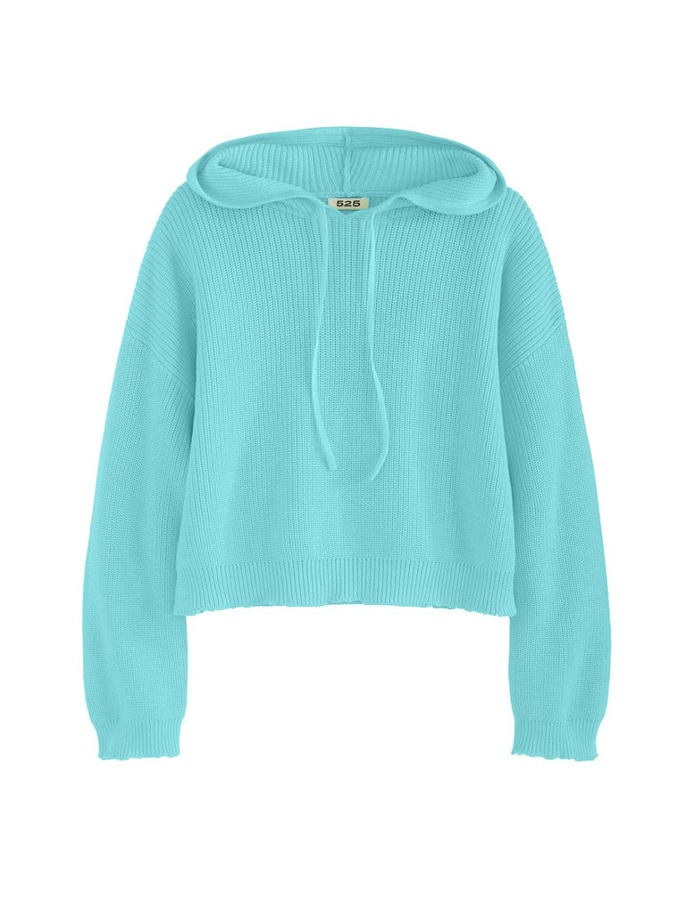 SHAKER DROP SHOULDER HOODIE (SURF BLUE) - 525 AMERICA