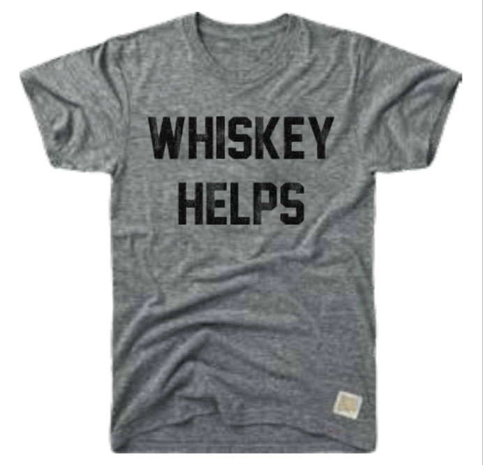'WHISKEY HELPS' T-SHIRT - RETRO BRAND