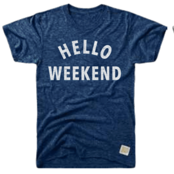 """HELLO WEEKEND"" T-SHIRT - RETRO BRAND"
