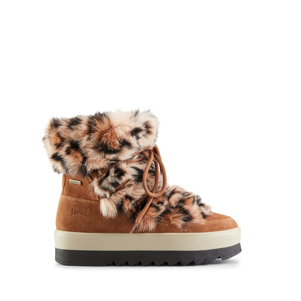 VANITY SUEDE WINTER BOOT (OAK LEOPARD) - COUGAR