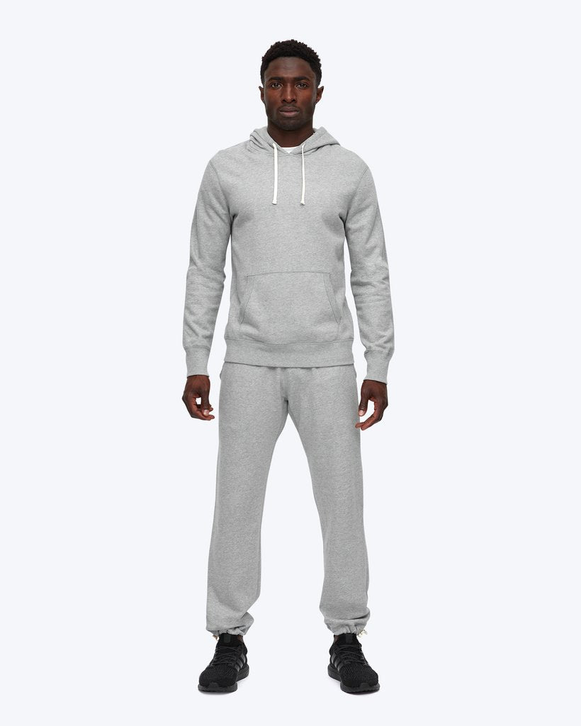 MIDWEIGHT TERRY PULLOVER HOODIE (GREY) - REIGNING CHAMP