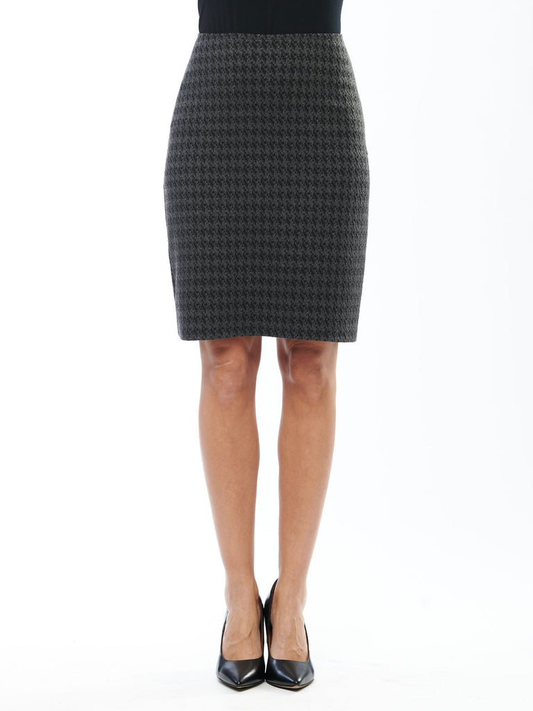 JAN LONG SIMPLE SKIRT (HOUNDSTOOTH) - MIIK