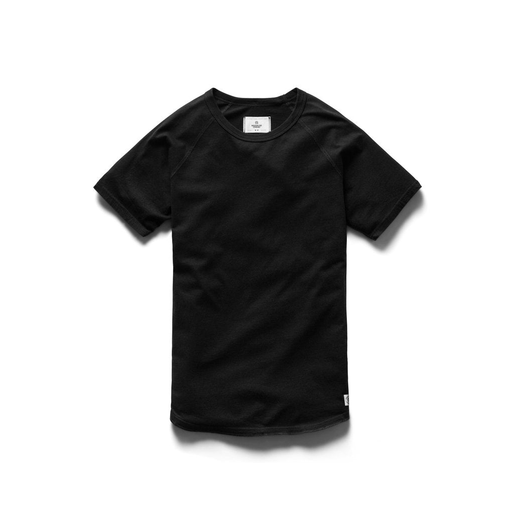 COTTON JERSEY RAGLAN TEE (BLACK) - REIGNING CHAMP