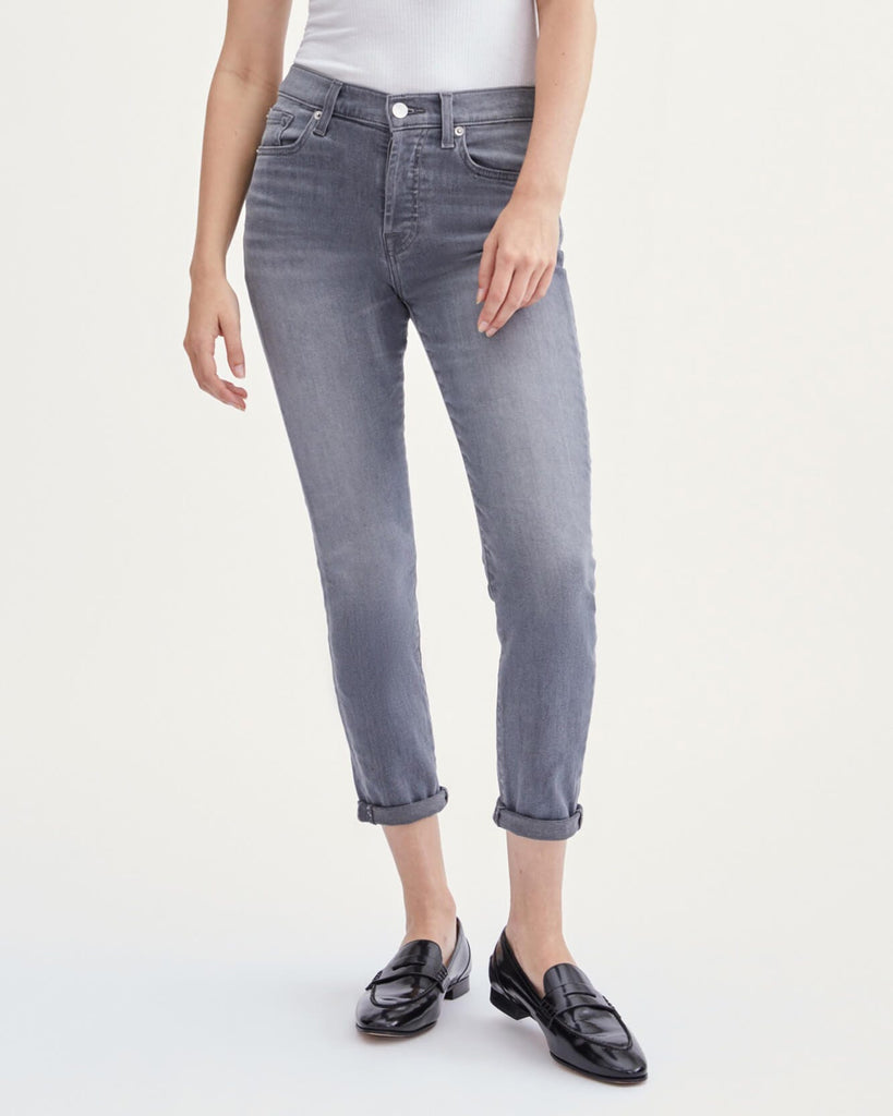 LUXE VINTAGE JOSEFINA BOYFRIEND SKINNY (CHER GREY) - 7 FOR ALL MANKIND