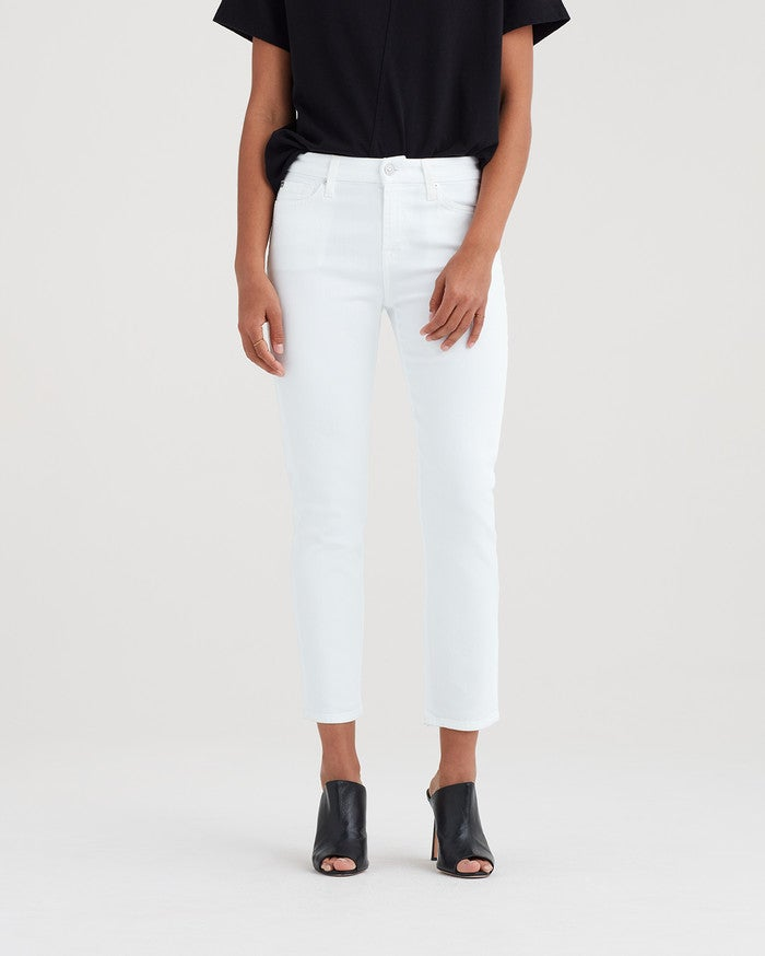 KIMMIE CROP JEAN (WHITE) - 7 FOR ALL MANKIND