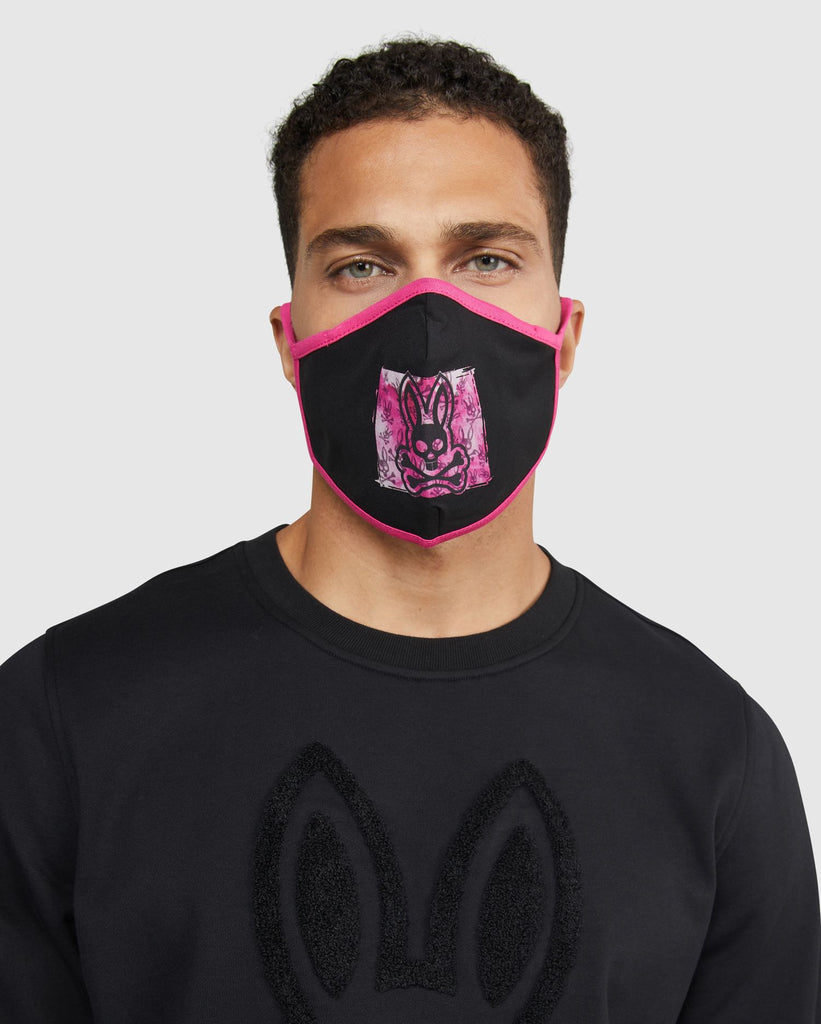 MEN'S FACE MASK (PINK/BLACK) - PSYCHO BUNNY