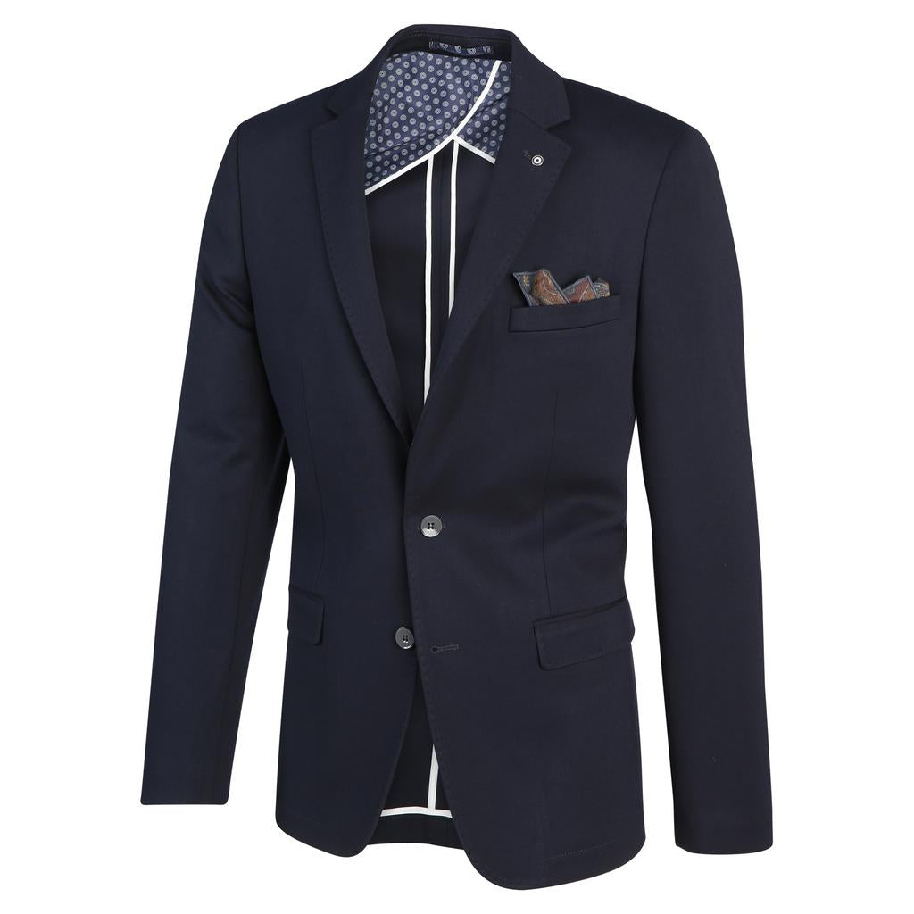 TAILORED NAVY BLAZER - BLUE INDUSTRY