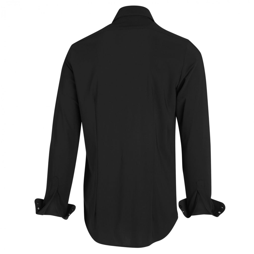 JERSEY BUTTON UP SHIRT (BLACK)- BLUE INDUSTRY