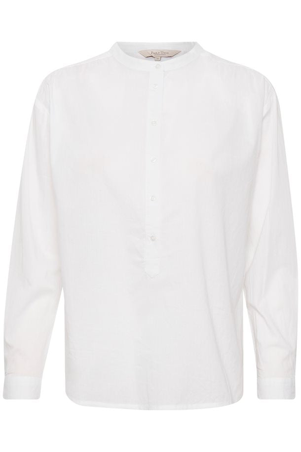 BIANCA COLLARLESS BUTTON BLOUSE - PART TWO