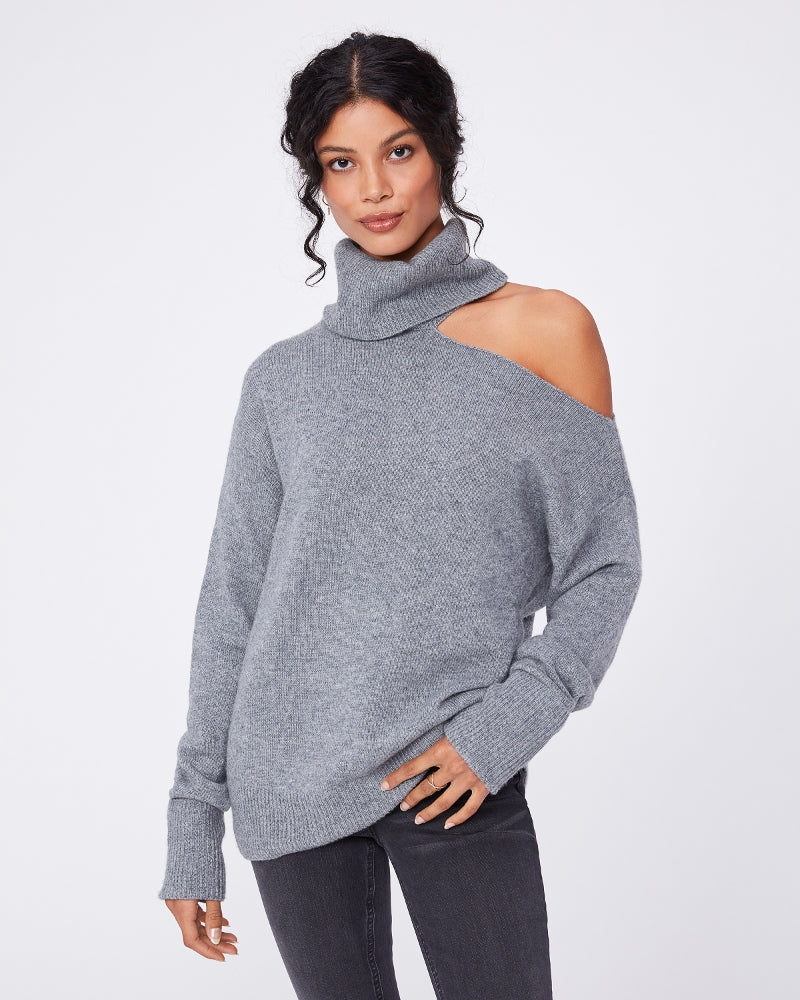RAUNDI SWEATER (HEATHER GREY) - PAIGE