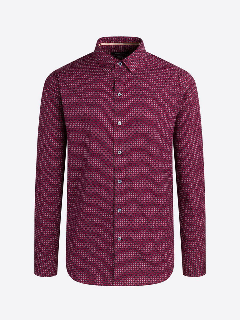 LONG SLEEVE SPORT SHIRT (BORDEAUX) - BUGATCHI