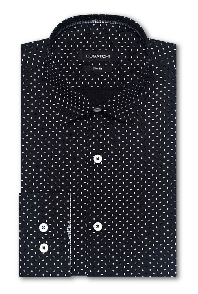 LONG SLEEVE SPORT SHIRT (CAVIAR) - BUGATCHI