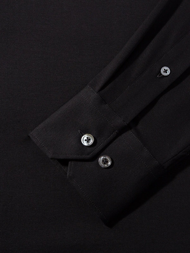 LONG SLEEVE KNIT SHIRT (BLACK) - BUGATCHI