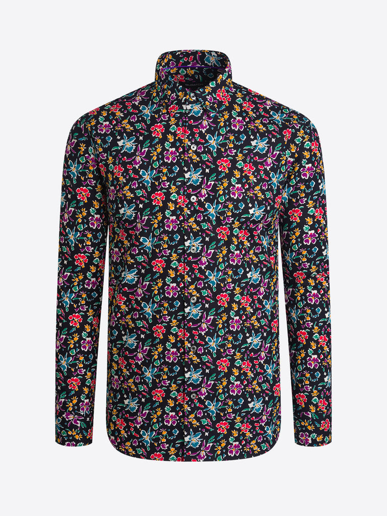 LONG SLEEVE SPORT SHIRT (FLORAL) - BUGATCHI