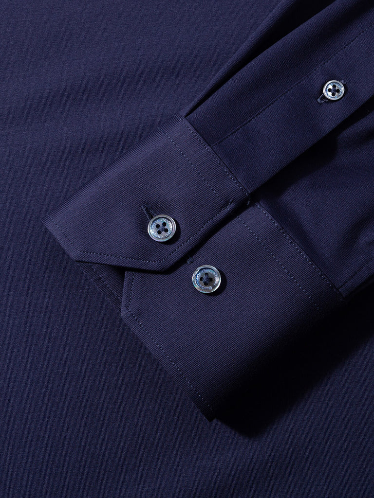 LONG SLEEVE PERFORMANCE SHIRT (NAVY) - BUGATCHI