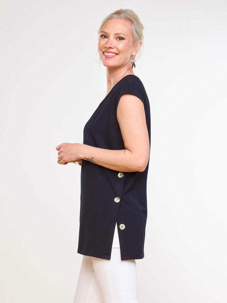 CAROLINE BUTTON TUNIC -  MIIK