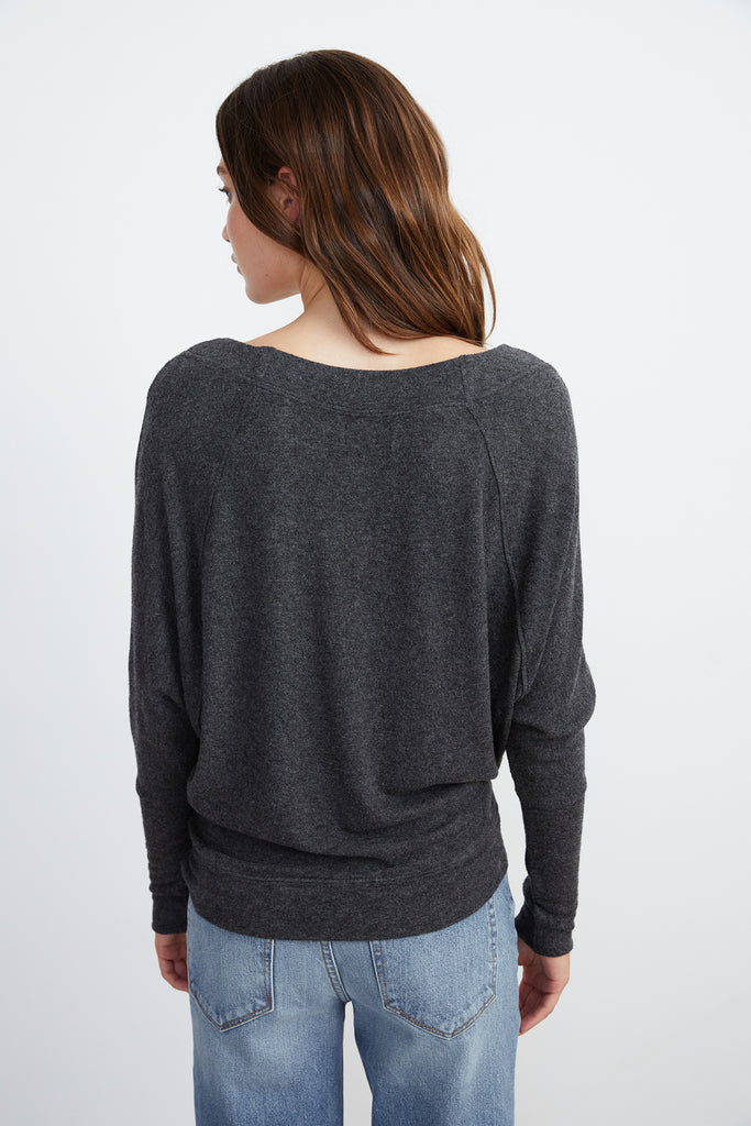 SELA COZY LUX LONG SLEEVE TOP - VELVET