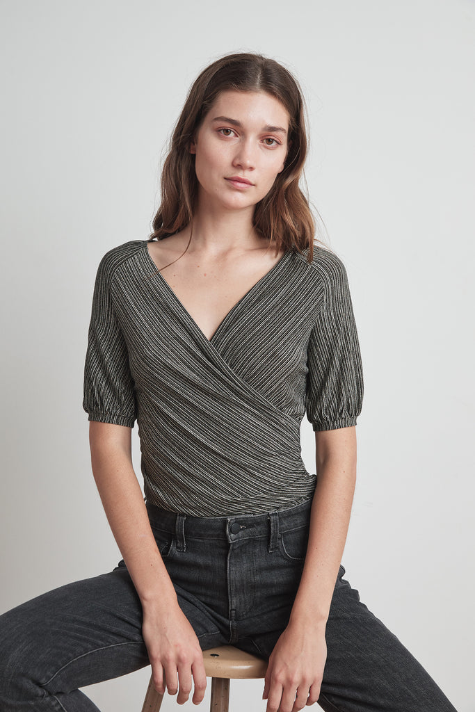 WENDELL LUREX TOP - VELVET