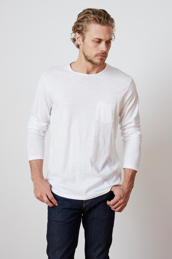 SLUB POCKET CREWNECK - VELVET