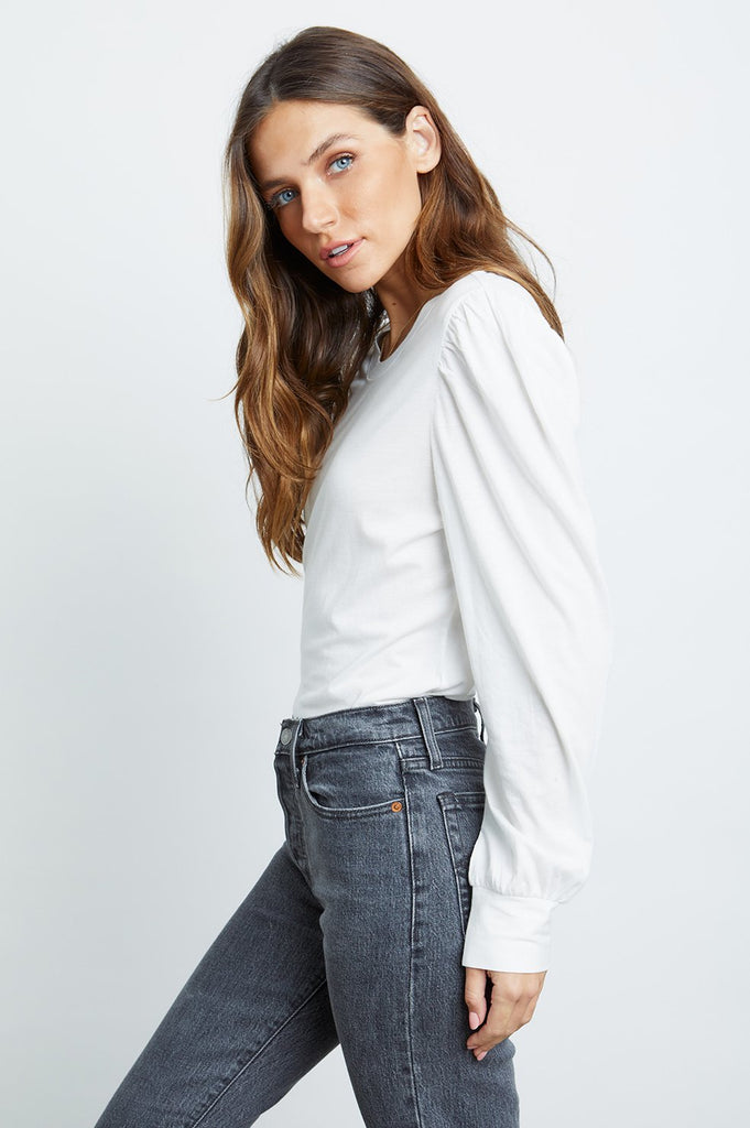 EMILIA PUFF SLEEVE TOP (WHITE) - RAILS