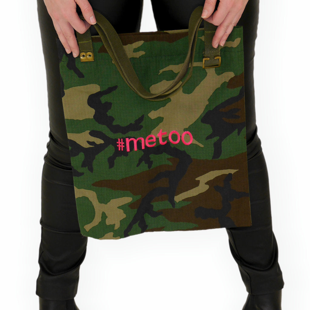 #METOO CAMO TOTE - HELLO COUTURE