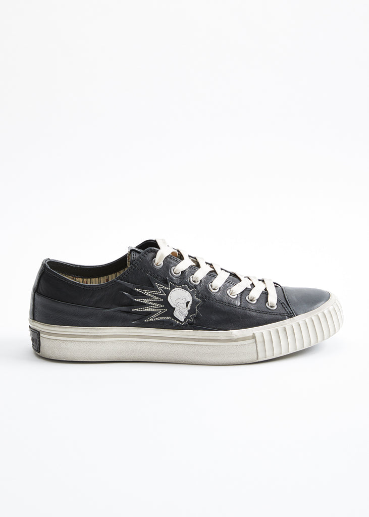 SKULL LOW TOP SNEAKER - JOHN VARVATOS