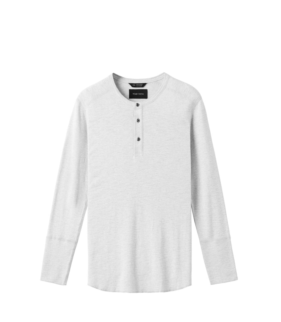 KNIT SLUB HENLEY - WINGS+HORNS