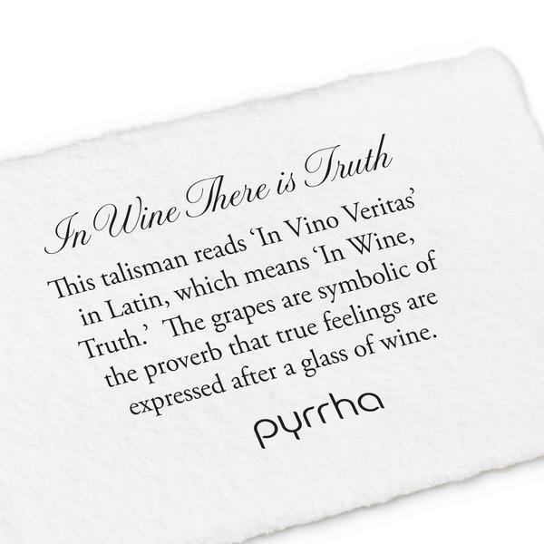 IN WINE THERE IS TRUTH NECKLACE - PYRRAH