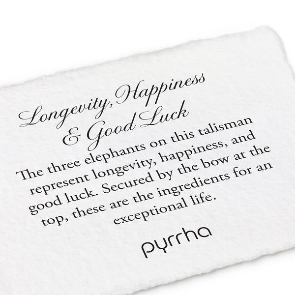 LONGEVITY, HAPPINESS & GOOD LUCK NECKLACE - PYRRAH