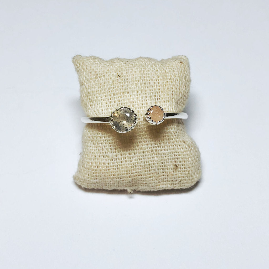 OPEN DOUBLE STONE RING - MUJA JUMA