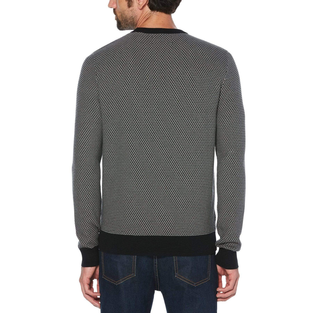 TRI-TONE POPCORN CREW NECK SWEATER - ORIGINAL PENGUIN