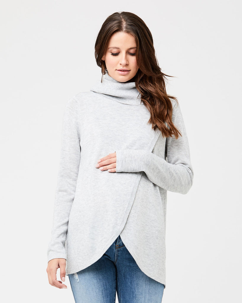 COWL NECK NURSING TOP  - RIPE MATERNITY