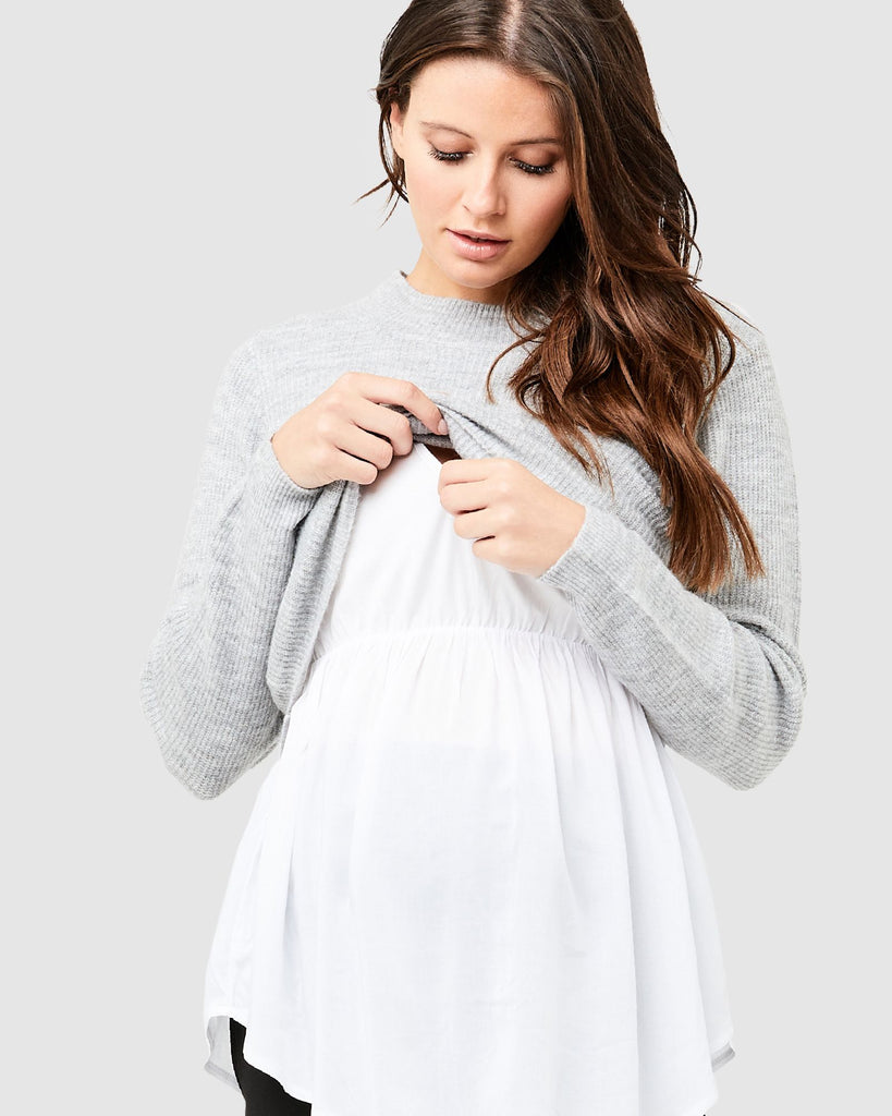 DETACHABLE NURSING SWEATER - RIPE MATERNITY