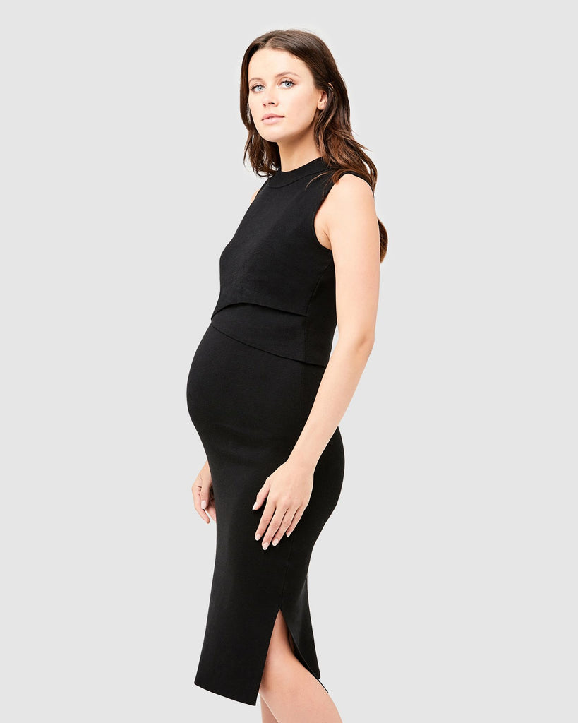 LAYERED NURSING DRESS - RIPE MATERNITY