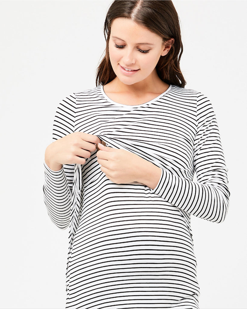SWING BACK STRIPE NURSING TOP - RIPE MATERNITY