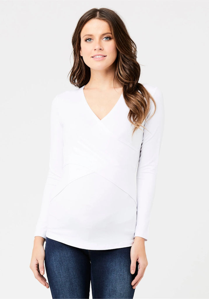 EMBRACE MATERNITY TEE (WHITE) - RIPE MATERNITY
