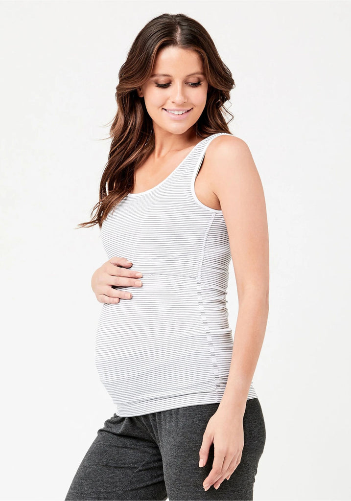 SEAMLESS STRIPE NURSING TANK - RIPE MATERNITY