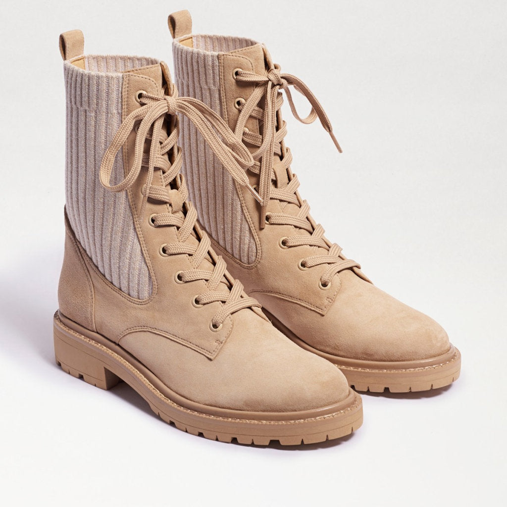 LYDELL COMBAT BOOT WITH KNIT SIDE DETAIL - SAM EDELMAN
