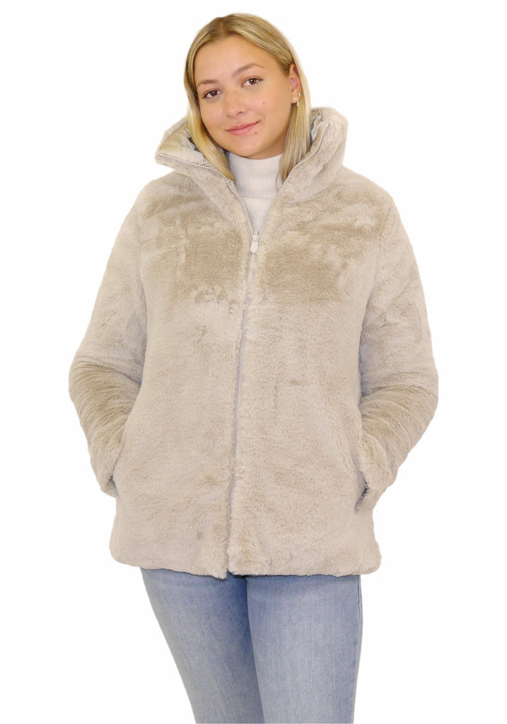 FURYY FAUX FUR REVERSIBLE JACKET -SAVE THE DUCK