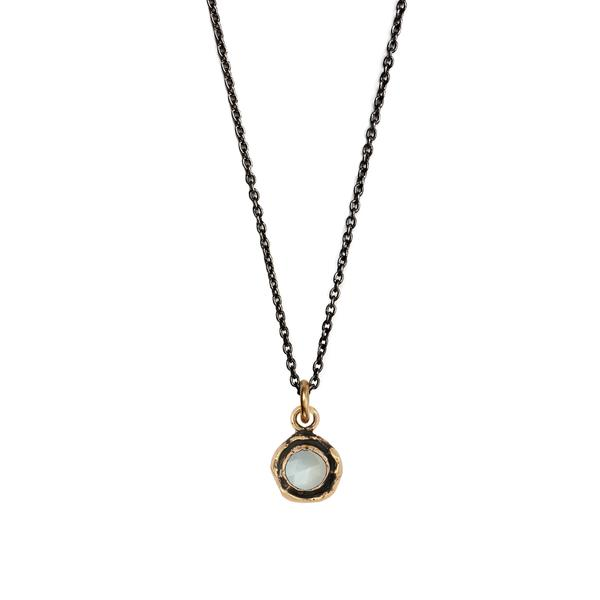 SMALL MOONSTONE FACETED STONE NECKLACE - PYRRAH