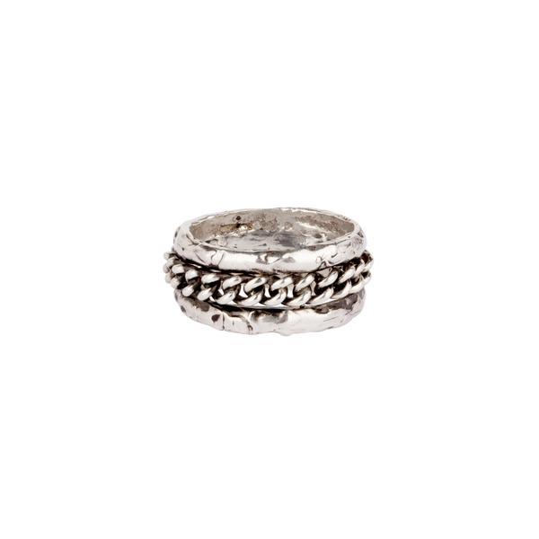 TRIPLE BAND WITH CHAIN RING - PYRRAH
