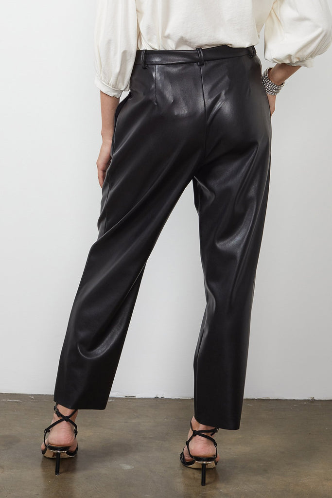 SIMONE VEGAN LEATHER PANT - VELVET