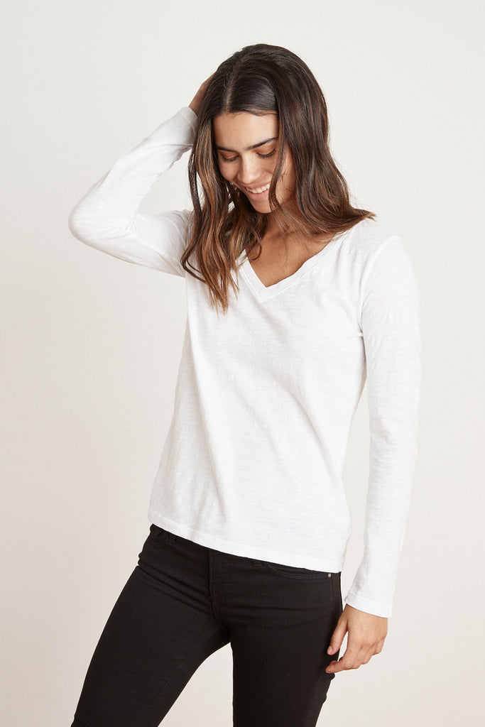 BLAIRE LONG SLEEVE TOP - VELVET