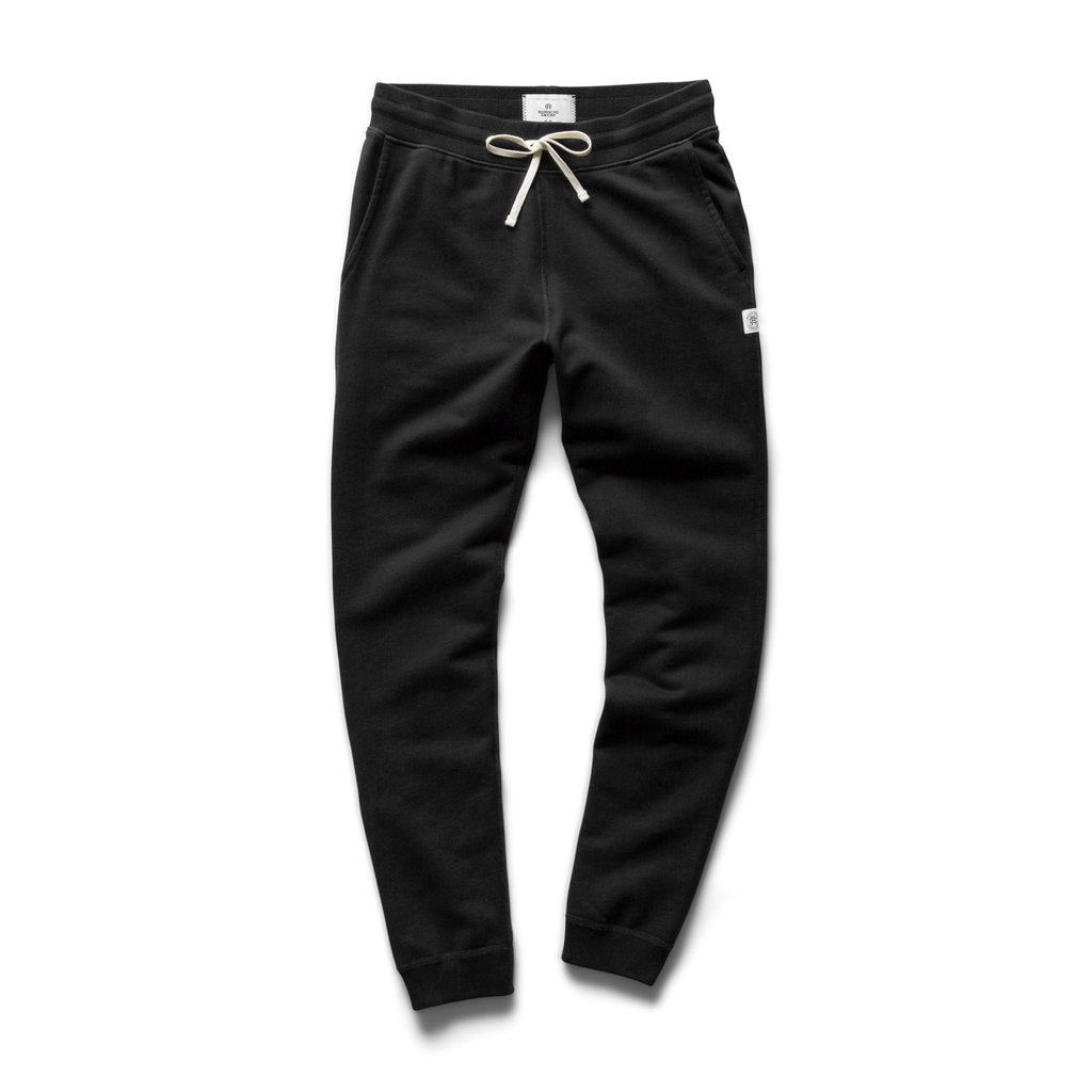 MIDWEIGHT SLIM FIT TERRY SWEAT PANT (BLACK) - REIGNING CHAMP