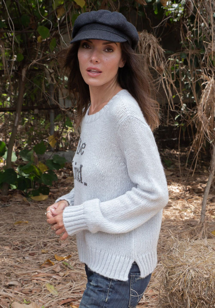 BE KIND CHUNKY KNIT SWEATER - WOODEN SHIPS