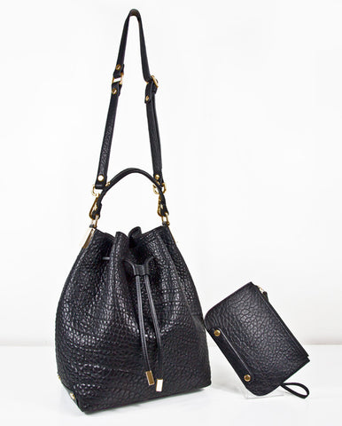 Black Jumbo Bucket Bag - PREORDER DISCOUNT