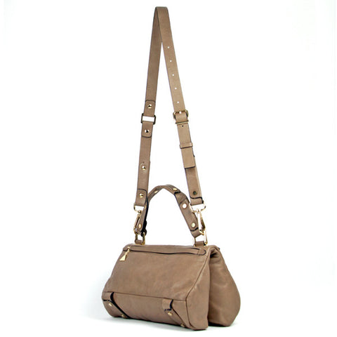 Taupe Soave Duo Satchel - Small