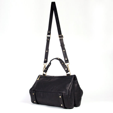 Black Soave Duo Satchel - Medium